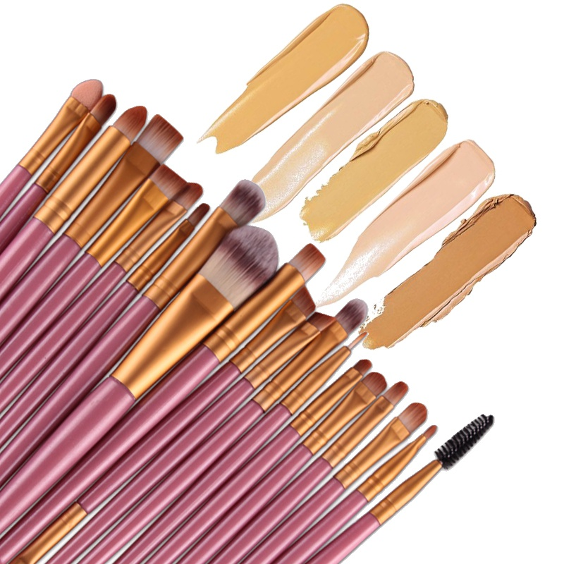 20 Pcs Professional Make Up Brushes Set Makeup Brush Set Cosmetics Toiletry Kit Tools Accessories 2017 New Make Up Tool 147 pcs portable professional watch repair tool kit set solid hammer spring bar remover watchmaker tools watch adjustment