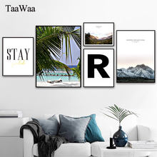 Пейзаж холст картина минималистский цитаты плакаты и принты