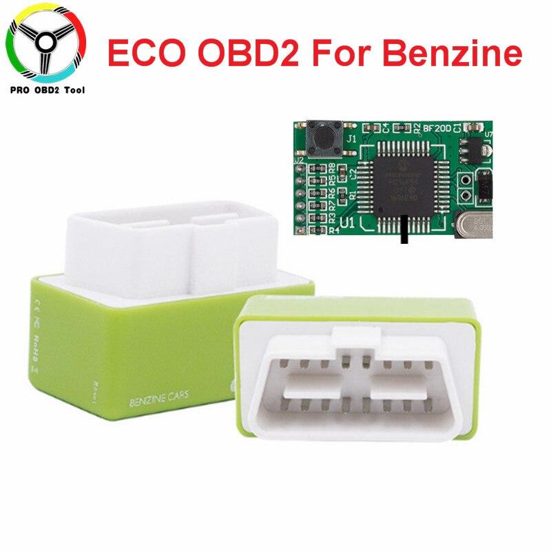Зеленый чип ECOOBD2 Пособия по экономике чип тюнинг коробка OBD автомобиля топлива Сохранить эко OBD2 для Автомобили экономии топлива 15% Поддержка...