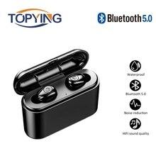 2019 new Earphones TWS Wireless Headphones Bluetooth 5.0 Earphone Handsfree Headphone Sports Earbuds Gaming Headset Phone