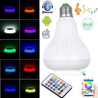 1 X Wireless Bluetooth 12W E26 LED Speaker RGB Bulb Audio Speaker Colorful Music Playing Lighting