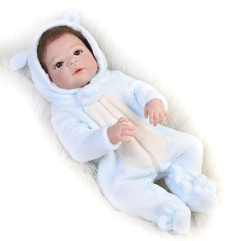 Limited Edition 23 Inch Baby Reborn Doll Lifelike 55 cm Full Silicone Body Realistic Baby Boy Toy Newborn Doll For Kid Xmas Gift mini portable 68000mah car battery charger starting device car jump starter booster power bank for a 12v auto starting device