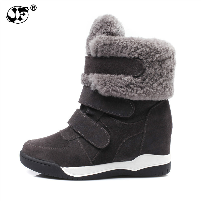 2019 Winter Wedge Patchwork Faux Fur Fashion Women Shoes Woman Boots Platform Warm Snow Femme Ladies Boot Gyh67 Removing Obstruction