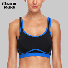 Charmleaks Womens Hight Impact Sports Bra Padded Support Yoga Breathable Fitness Workout Racerback Top