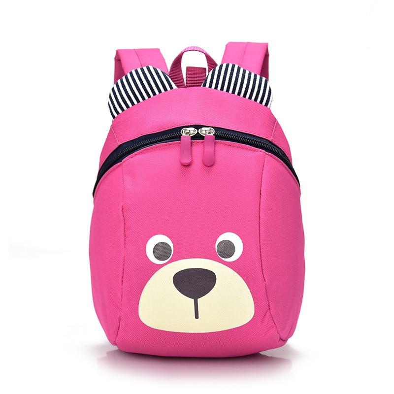 New Cute Little Bear Children's Backpack Lovely cartoon animal School Bags For Boys Girls kindergarten bag baby bags