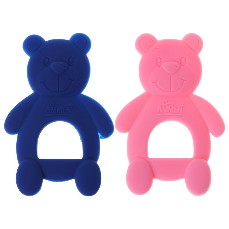 Baby  Bear Cute Teethers  DIY Necklace Teething Massage Pain Relief Pacifier Newborn Orthodontic Oral Care Infants Food Grade