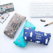купить Kawaii Animal PU stationery bag Pencil Case Storage Organizer Pen Bags Pouch Pencil Bag Pencilcase School Supply Stationery по цене 161.27 рублей