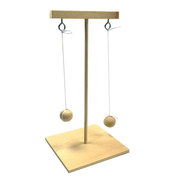 DIY Assembly Pendulum Clock Material Kit Wooden Building