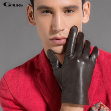 Зимние перчатки gours мужские из козьей кожи
