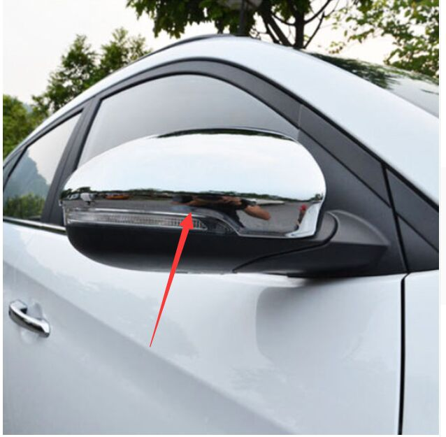 FIT FOR HYUNDAI TUCSON TL 2015 2016 DECORATION CHROME SIDE MIRROR COVER TRIM MOLDING CAP OVERLAY STYLING PROTECTOR GARNISH