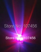 100 pces 10mm 2pin rgb flash led lâmpada ultra brilhante rgb leds diy 10mm diodo emissor de luz