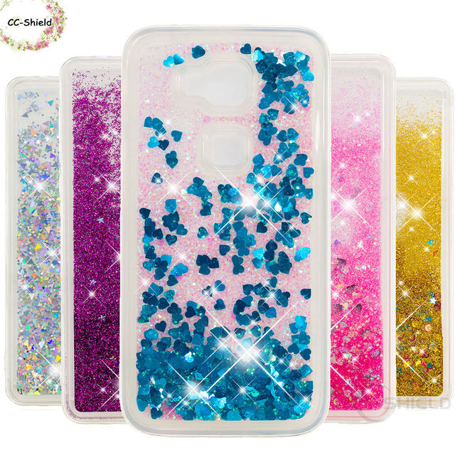 official photos 52676 ea967 US $4.41 6% OFF|Quicksand Phone Case for Huawei G8 RIO L01 L11 Dynamic  Liquid Love Heart Soft TPU Back Cover for Huawei G 8 RIO L01 RIO L11  Case-in ...