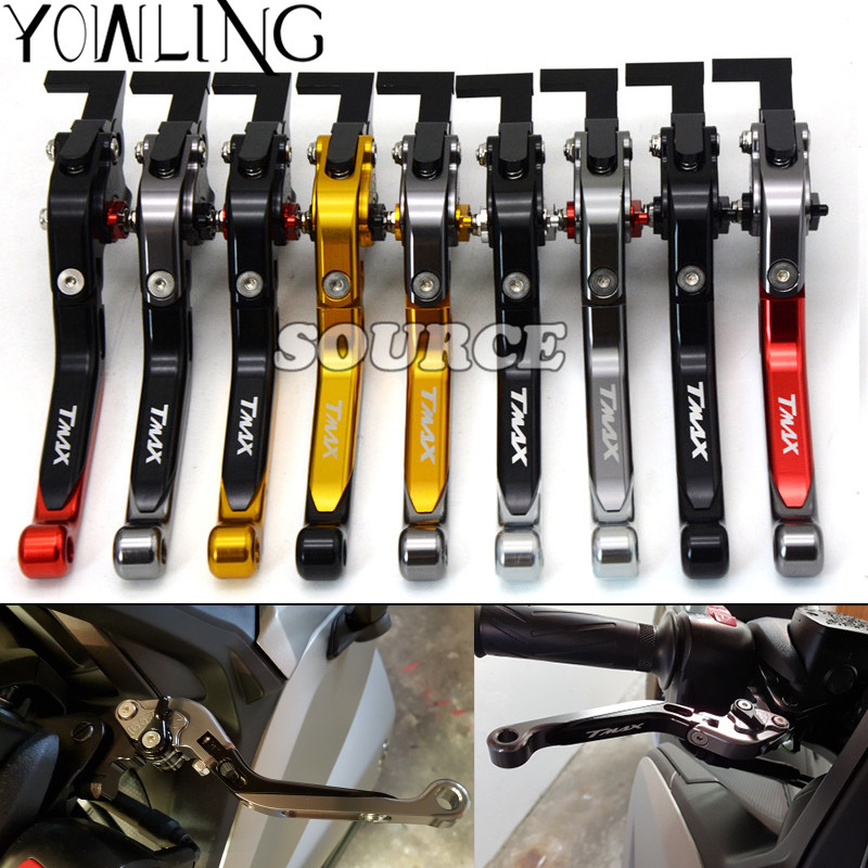 Extendable Adjustable Motorcycle Brake Clutch Levers For Yamaha TMAX 500 TMAX 530 T-MAX500 T-MAX530 T MAX 500 530 2008- 2016 for yamaha t max 530 tmax 530 dx t max 530 sx 12 18 t max 500 accessories folding extendable brake clutch levers logo tmax