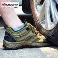 Envío gratis hombres Otoño Invierno de trabajo puntera de acero zapatos de seguridad botas de montaña al aire libre respirable ocasional calzado a prueba de pinchazos