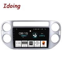 Idoing 94G+64G 2.5D IPS Screen Octa Core 1 Din Car Android 8.0 Radio Multimedia Player Fit VW Tiguan 2010 2015 GPS Navigation