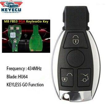 KEYECU Keyless Go Remote Key Fob for Benz FBS3 BGA W221 W216 W164 W251 After Year 2009