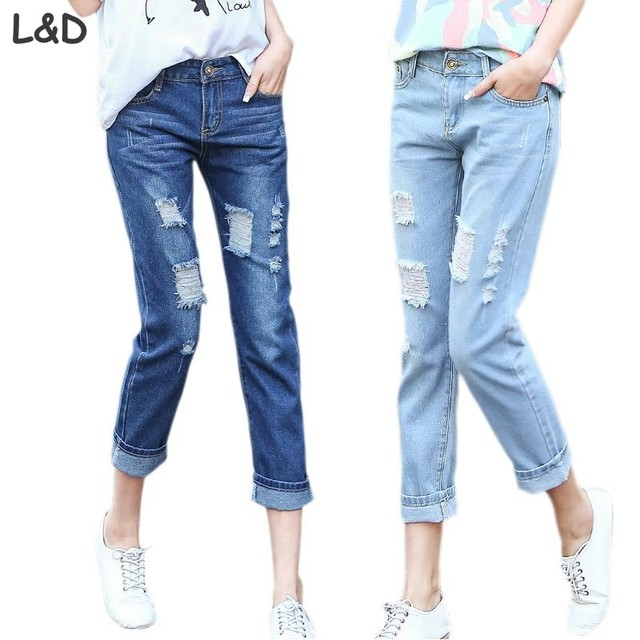 Aliexpress.com : Buy 2017 New Autumn Summer Women Boyfriend Jeans ...