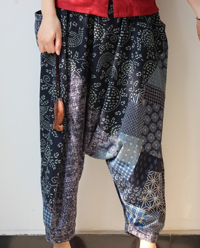 New product launch in the autumn of 2015, the original design 100% cotton linen leisure loose big yards wide leg pants