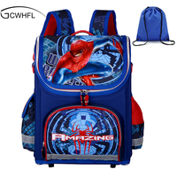 New Children School Bags For Boys Orthopedic Waterproof Backpacks Child Boy Spiderman Book Bag Satchel Knapsack