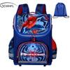 New Children School Bags For Boys Orthopedic Waterproof Backpacks Child Boy Spiderman Book Bag Satchel Knapsack