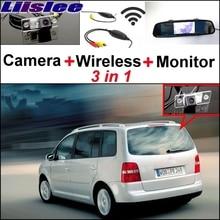 Liislee 3 in1 для Volkswagen VW Touran Гольф Touran специальные Wi-Fi Камера+ Беспроводной приемник+ зеркало Мониторы Удобная парковка системы