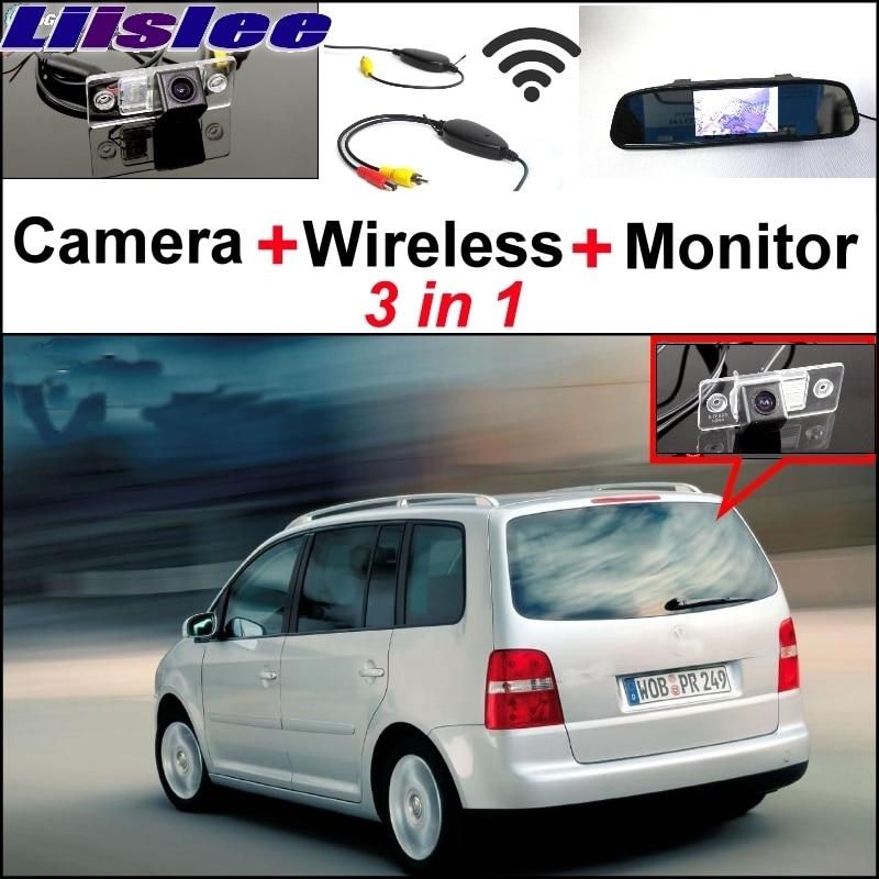 Liislee 3 in1 для Фольксваген Туран Фольксваген Гольф Туран специальный WiFi камера + беспроводной приемник + зеркало монитор простая система парковки
