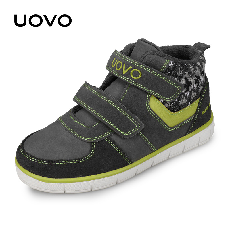 UOVO Kids Casual Shoes 2019 New Fashion Boys And Girls Sneakers Autumn Winter Kids School Shoes Children's Footwear Size 27#-35#