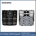 Teclados original para philips x5500 celular, botão ker para xenium ctx5500 telefone móvel com garantia