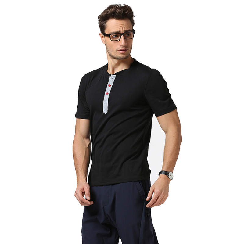 New Men Tshirt Henry Collar Tees Hot Sale Summer Cool Design T -Shirt Homme Fitness Streetwear Brand Clothing Male T Shirt