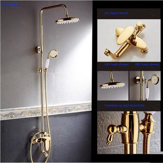 Dofaso luxury retro bathroom waterfall shower faucets set Made by ...