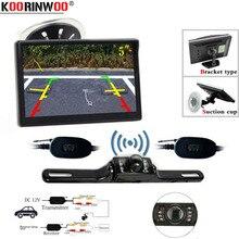 Koorinwoo Senza Fili Nuovo 5 pollice Auto Monitor TFT Lcd HD Digitale a Colori Auto targa Videocamera vista posteriore Kit Supporto VCD /DVD