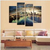 2017 New Rushed No Abstract Home Decor Canvas Oil Painting Retro City Landscape Pictures Decorative Paintings