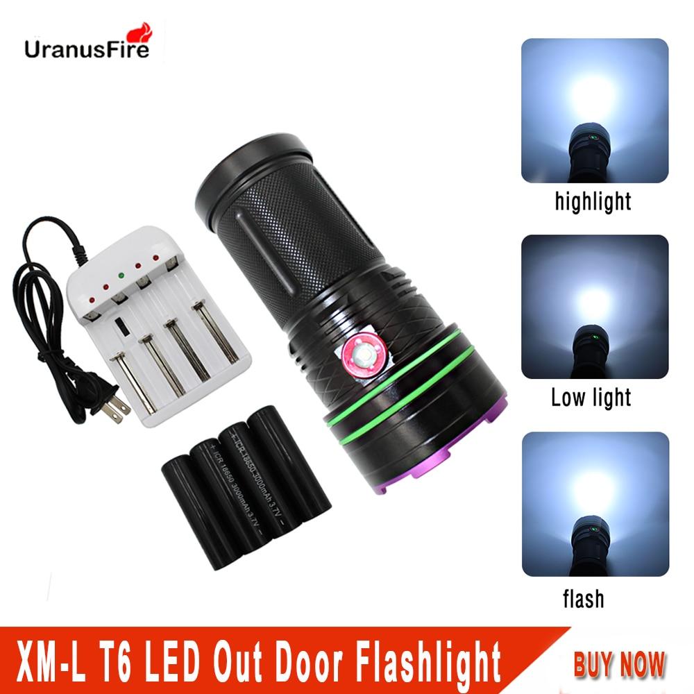 Powerful XML-T6 LED outdoor Flashlight 18650 Tactical Waterproof Torch Fishing Light Hunting camping Lamp White Light Lantern sitemap 40 xml
