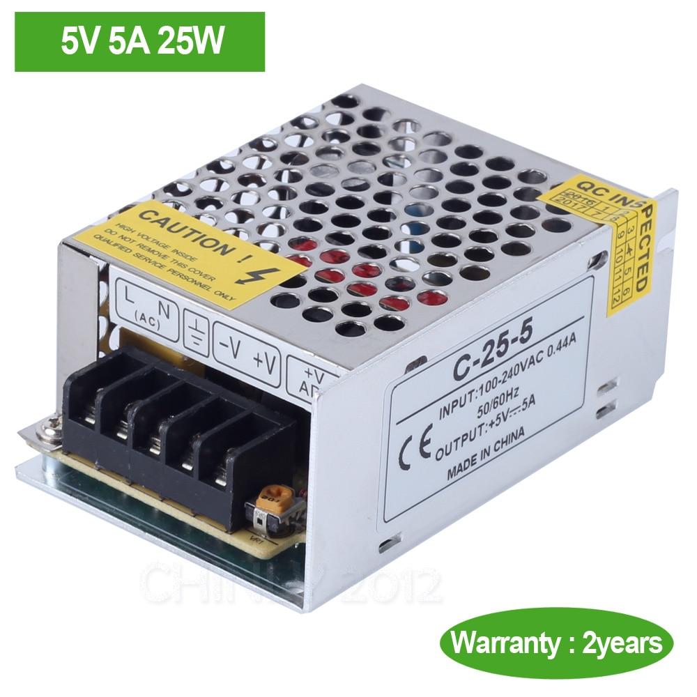DC5V 5A 25W LED Treiber Schalter Netzteil Transformator für LED Strip LED Modul