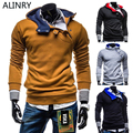 2017 New arrival men's sportswear 7 colors cotton sweatshirt autumn winter hooded fashion British style winter jacket