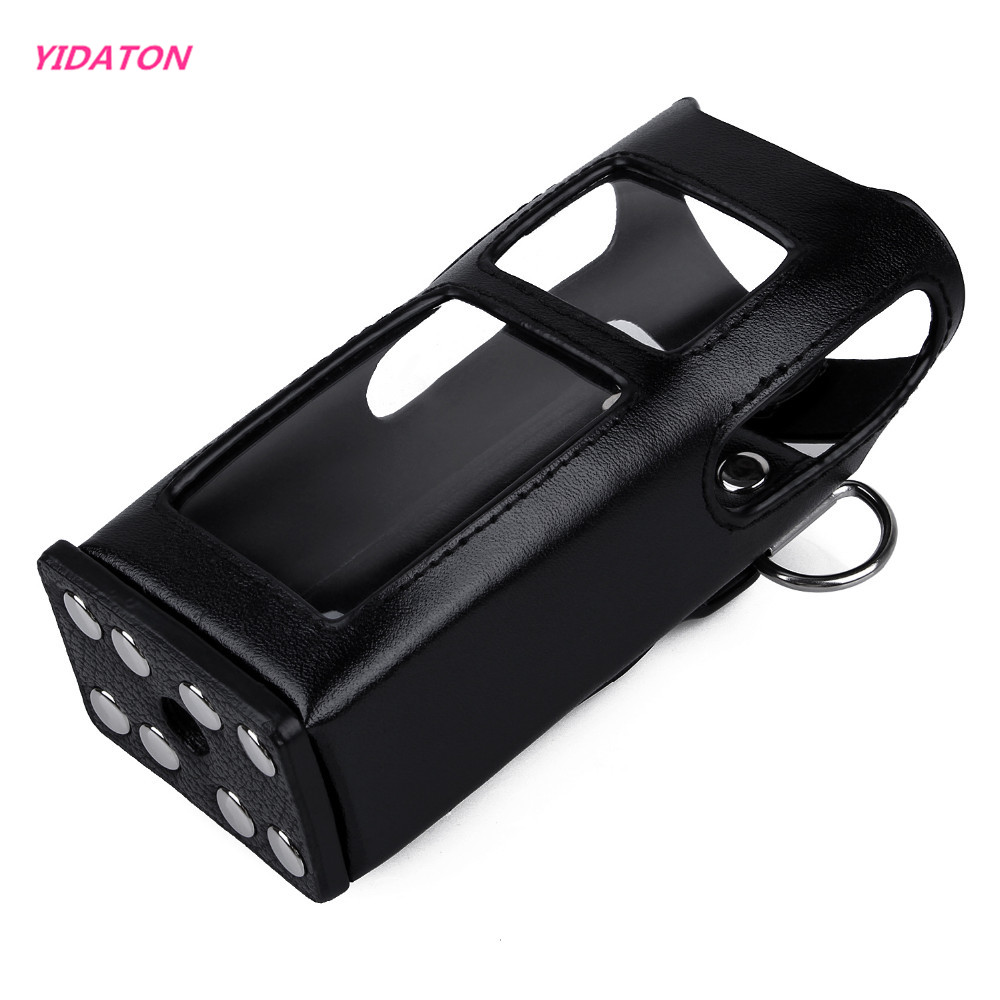 YIDATON New Leather Carrying Case For Digital Hytera Two Way Radio PD780 PD785 Walkie Talkie Leather Case