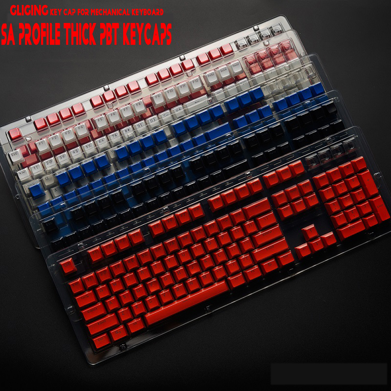 104 Key SA Height Profile Thick PBT Profile Keycaps Backlit For Cherry mx Switch Mechanical Keyboard
