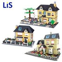Lis WANGE City Villa Garden Building Blocks Sets Doll House Bricks Model Kids Children Kids toys Christmas gifts