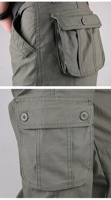 Men's Cargo Pants Casual Multi Pockets Military Tactical Pants Men Outerwear Army Straight Slacks Long Trousers Men Clothes