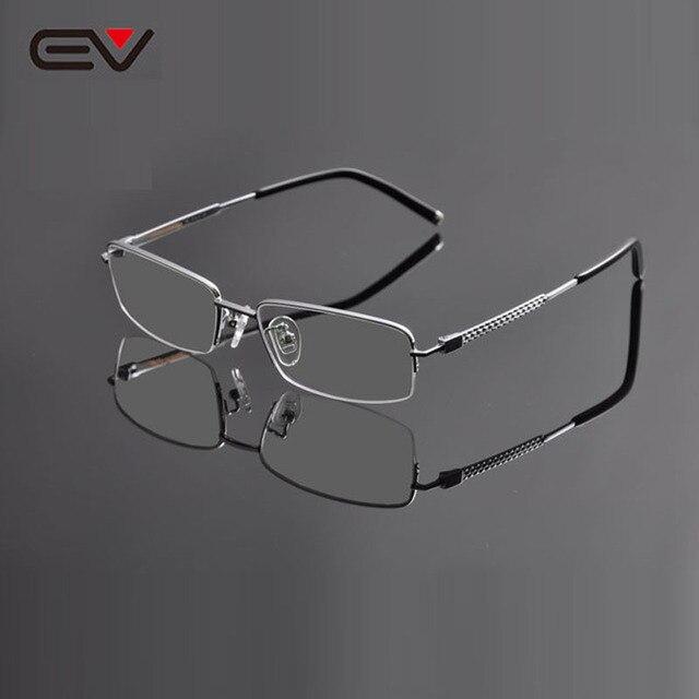 98cc5c386 EV Armacao de Oculos de Grau Masculino High Quality Mens Titanium  Eyeglasses Business Clear Lens Myopia Glasses Frame EV0952