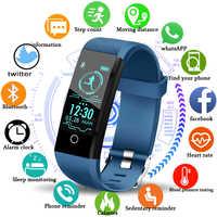 LIGE 2019 Neue Smart gesundheit Uhr Männer Frauen Fitness tracker Herzfrequenz Blutdruck monitor Schrittzähler Wasserdicht Smart armband