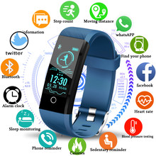 LIGE 2019 New Smart health Watch Men Women Fitness tracker Heart Rate Blood Pressure monitor Pedometer Waterproof Smart bracelet(China)