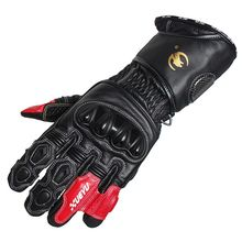 2016 Brand Waterproof Motorcycle Gloves Genuine Leather Carbon Fiber Motocross Racing Gloves Outdoors off road Protective