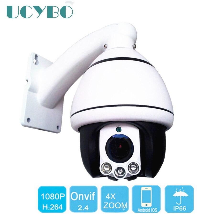 UCYBO Security PTZ IP Camera 1080P 960P HD outdoor mini ptz pan tilt 4x zoom cctv video surveillance speed dome cameras Infared