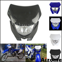 Black Motocross Off Road Headlight Fairing For Yamaha WR450F WR250F YZ YZF TW TTR DR RM Supermoto Dirt Pit Bike Front Lighthouse