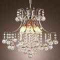 Led Pendant Light Luxury Modern K9 Crystal Living 6 Lights,Bulb Included E14  For Foyer,Living Room,Bulb Included