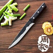 Freies Verschiffen ZHOU Geschmiedet Küche Eviscerate Ausbeinmesser Handmade Cut Fleisch Gemüse Fisch Kochen Messer Chef Fleischmesser