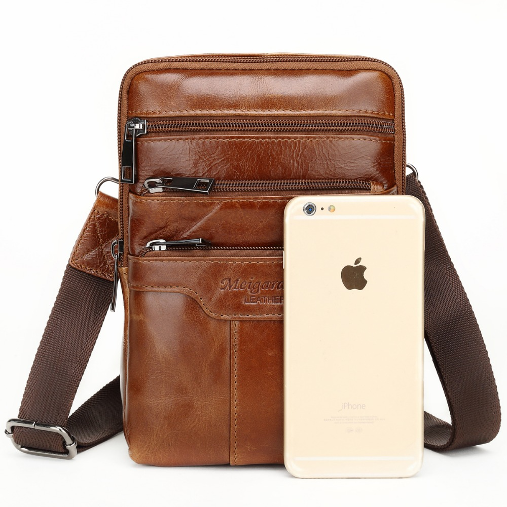 8dbcc9950f MEIGARDASS Genuine Leather Small Messenger Bags Vintage Cowhide Travel  Casual Shoulder bags for Men Ipad Crossbody Bag Handbags on Aliexpress.com
