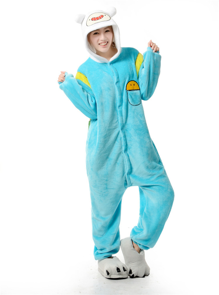 Aliexpress.com : Buy Adventure Time Finn One Piece Pajama Onesies ...