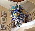 Бесплатная доставка  длинная люстра из выдувного стекла в рождественском стиле